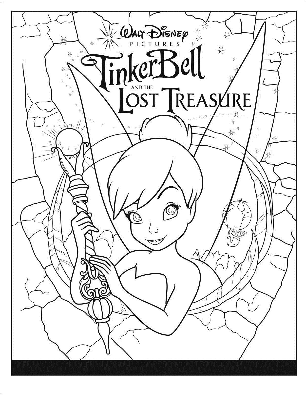 Free Printable Tinkerbell Coloring