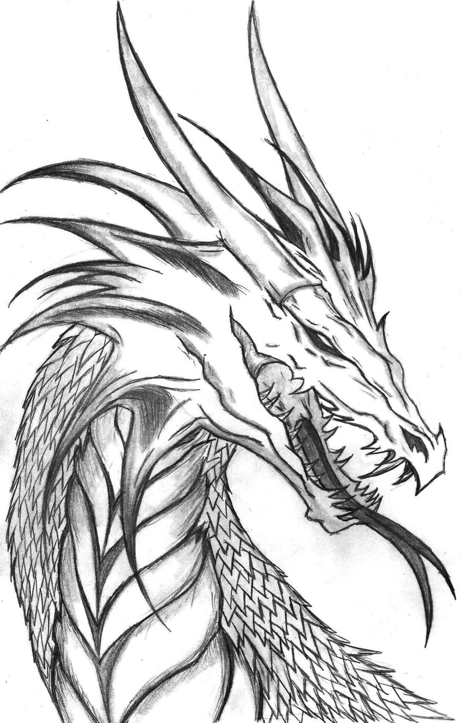 Free printable dragon coloring pages for kids for Awesome face drawing