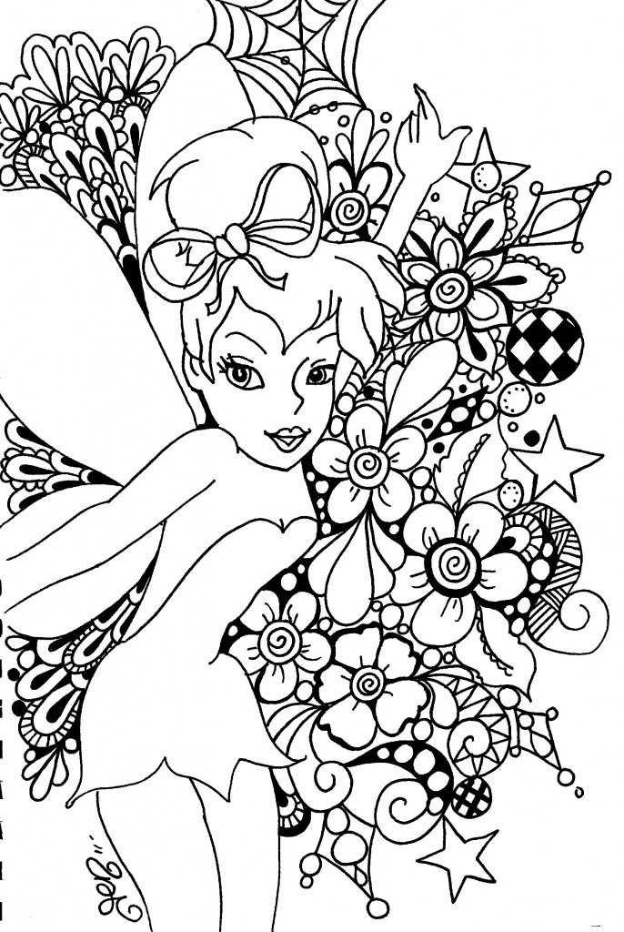 gothic tinkerbell coloring pages - free coloring pages of adult gothic fairy
