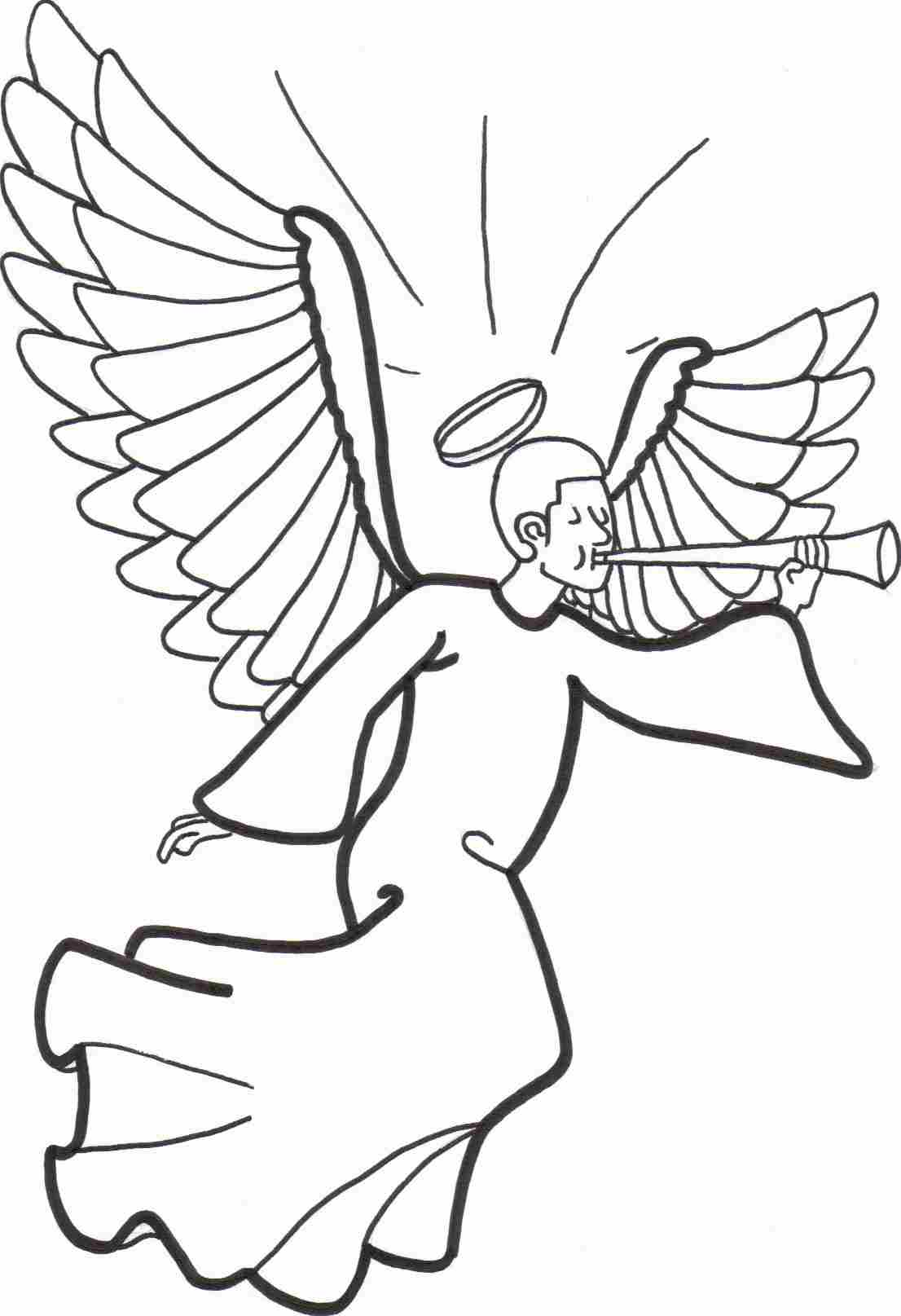 free angel coloring pages pictures - photo#21