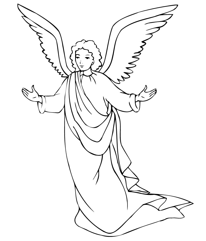 coloring pages angels - photo#2