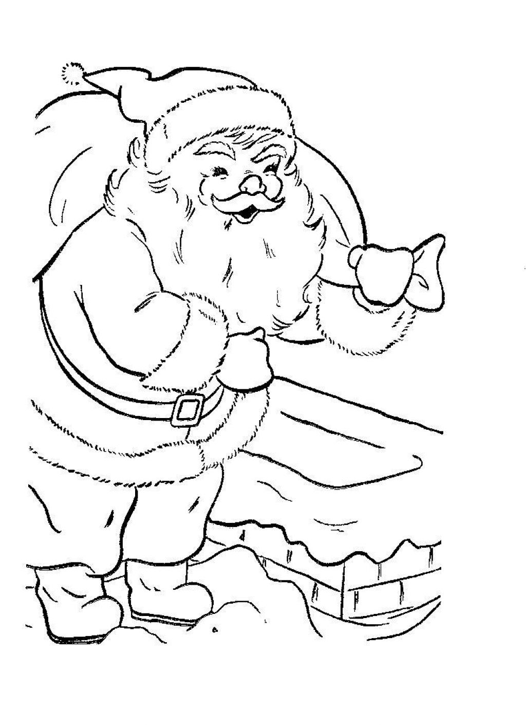 Santa claus face coloring pages for kids - crazywidow.info