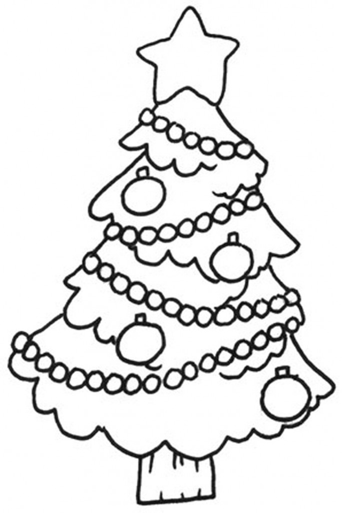 Free printable christmas tree coloring pages for kids for Christmas coloring in pages