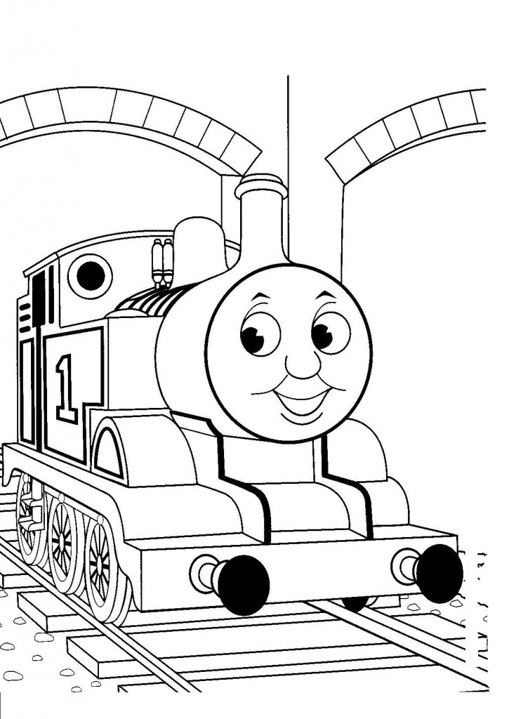 Thomas Train Outline Coloring Coloring