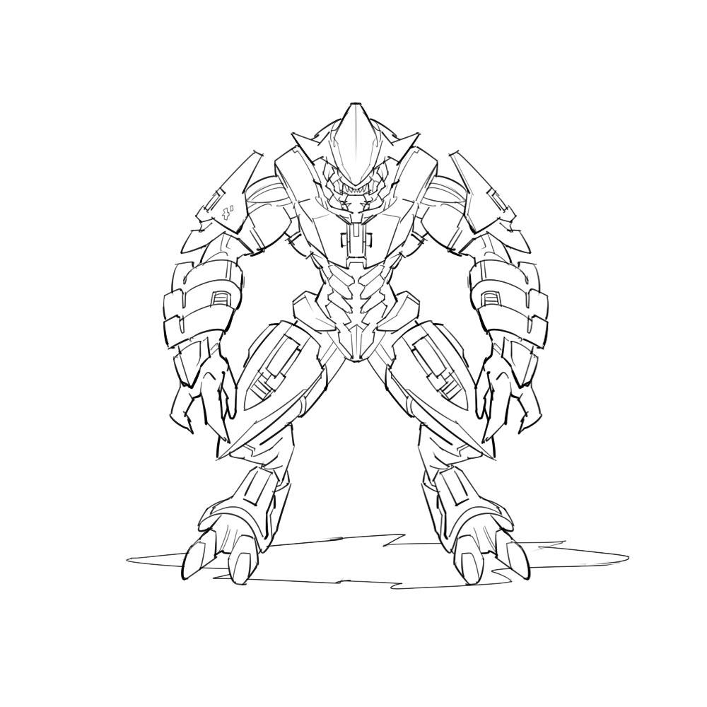 Dorable Halo Para Colorear Páginas Jefe Maestro Elaboración - Ideas ...