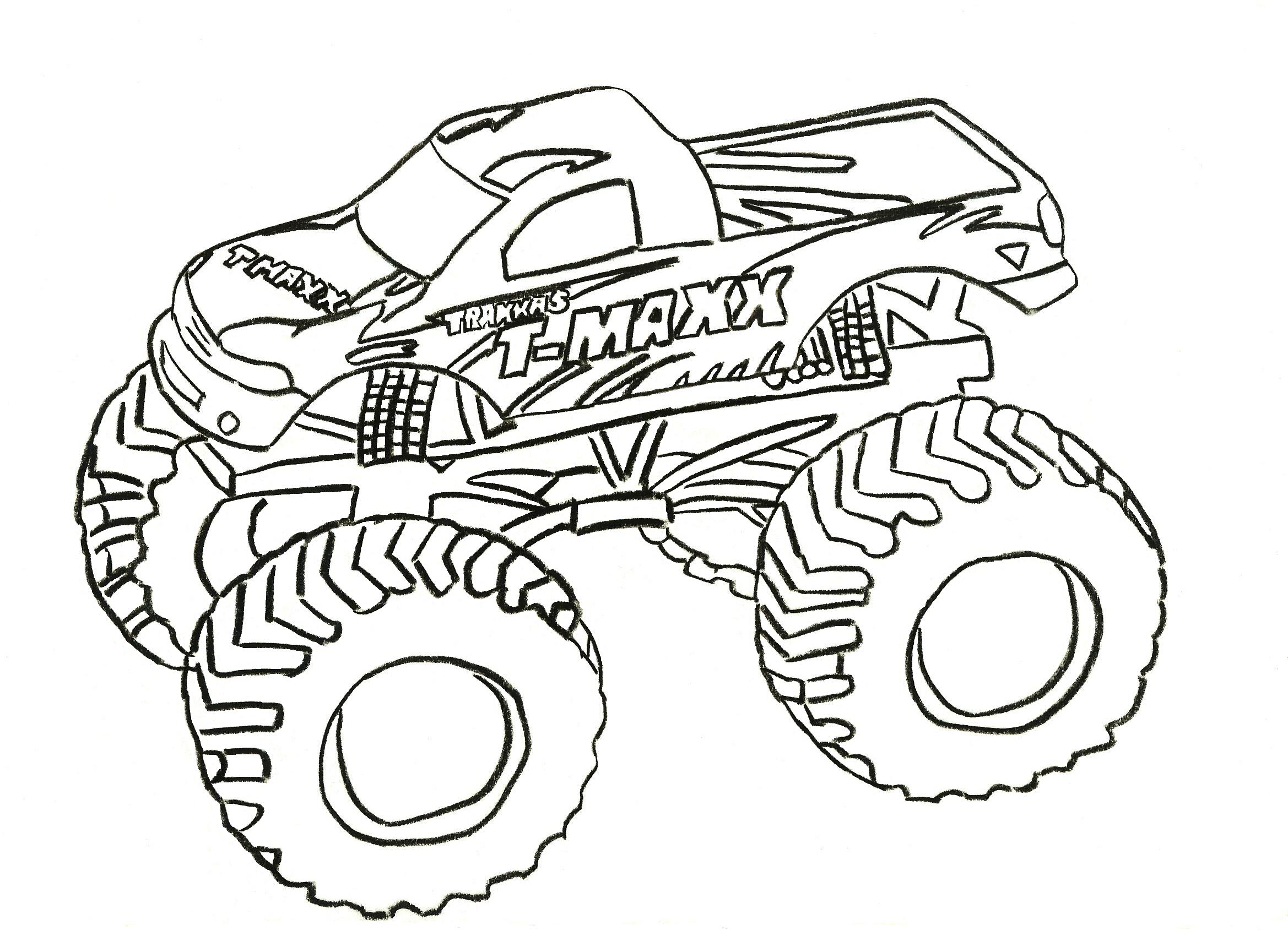 Free Printable Monster Truck Coloring Pages For Kids Truck Coloring Pages To Print
