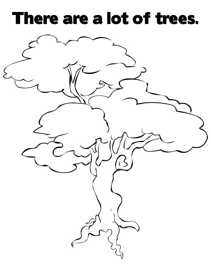 coloring pages for kids trees - photo#11