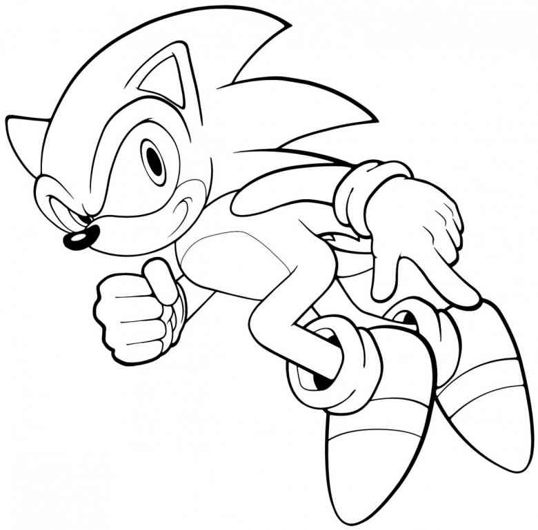 sonic character coloring pages - photo#1