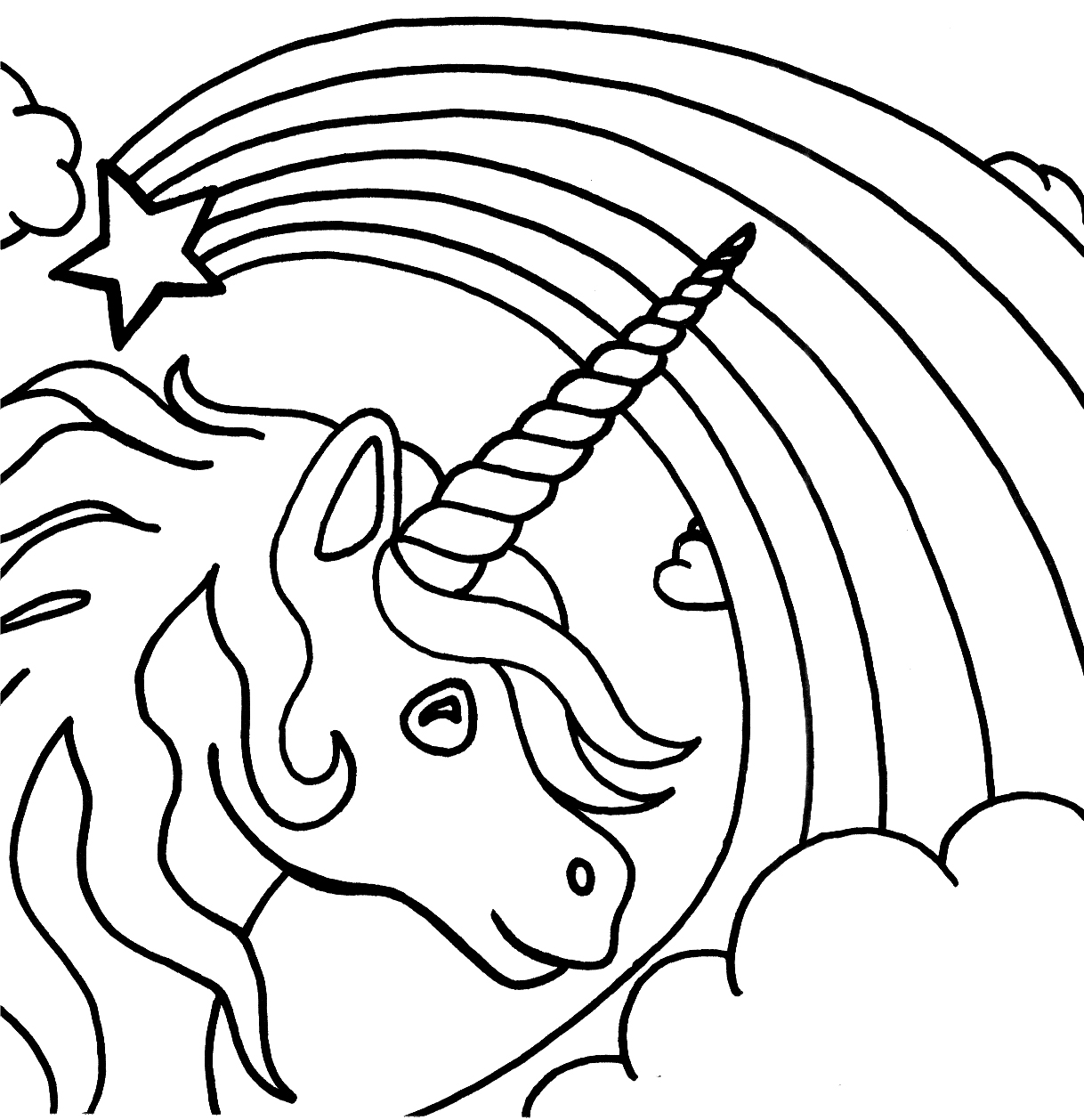 Luxury Realistic Winged Unicorn Coloring Pages With