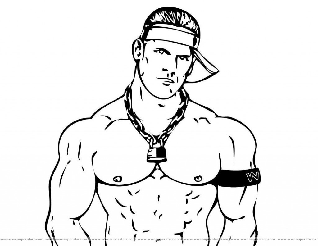 John Cena Of Wwe Coloring Pages