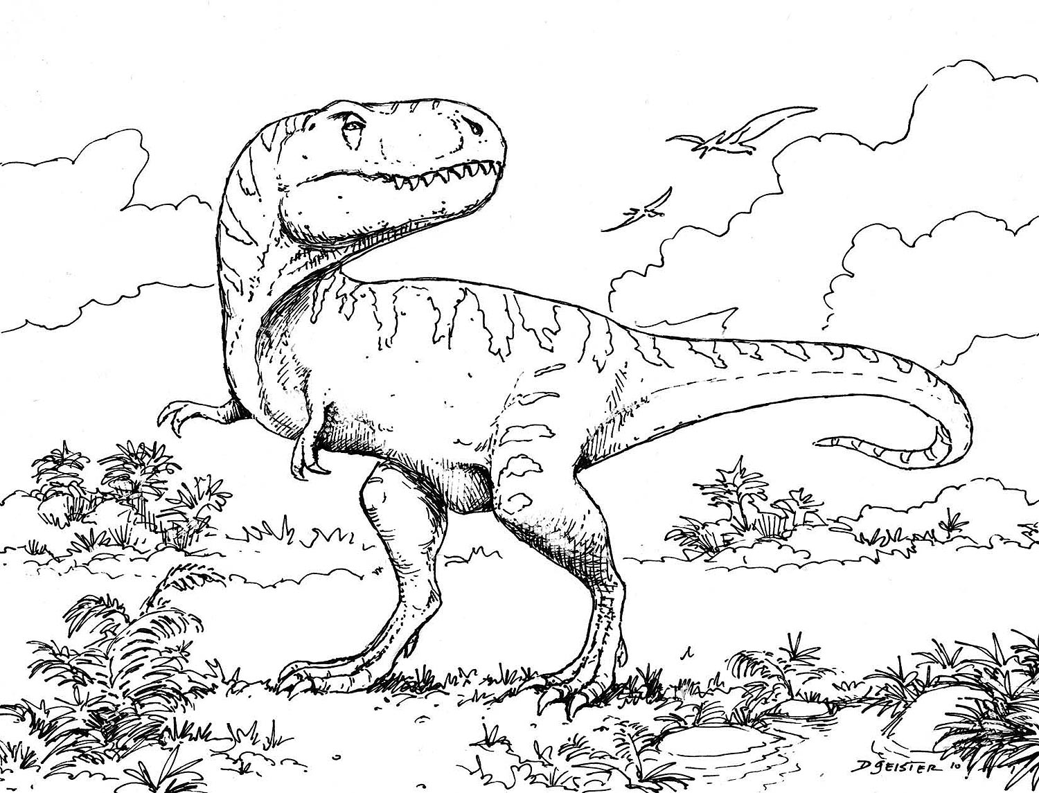 dinosaur coloring pages for - photo#28