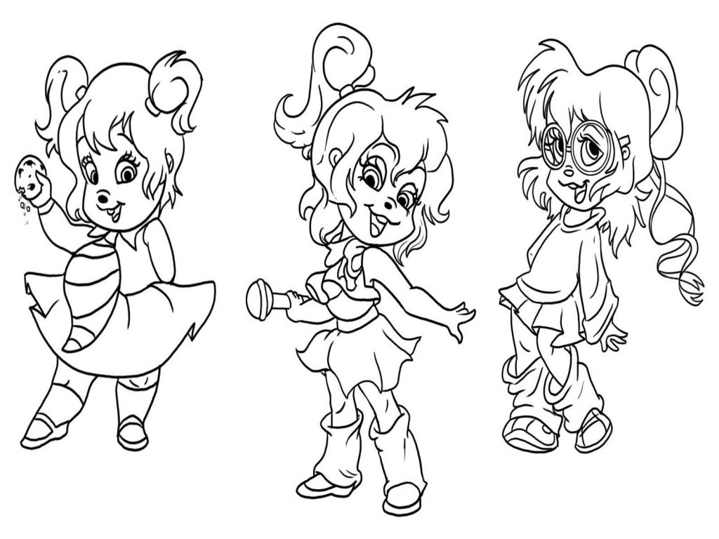 Image Result For Alvin And The Chipmunks Coloring Games