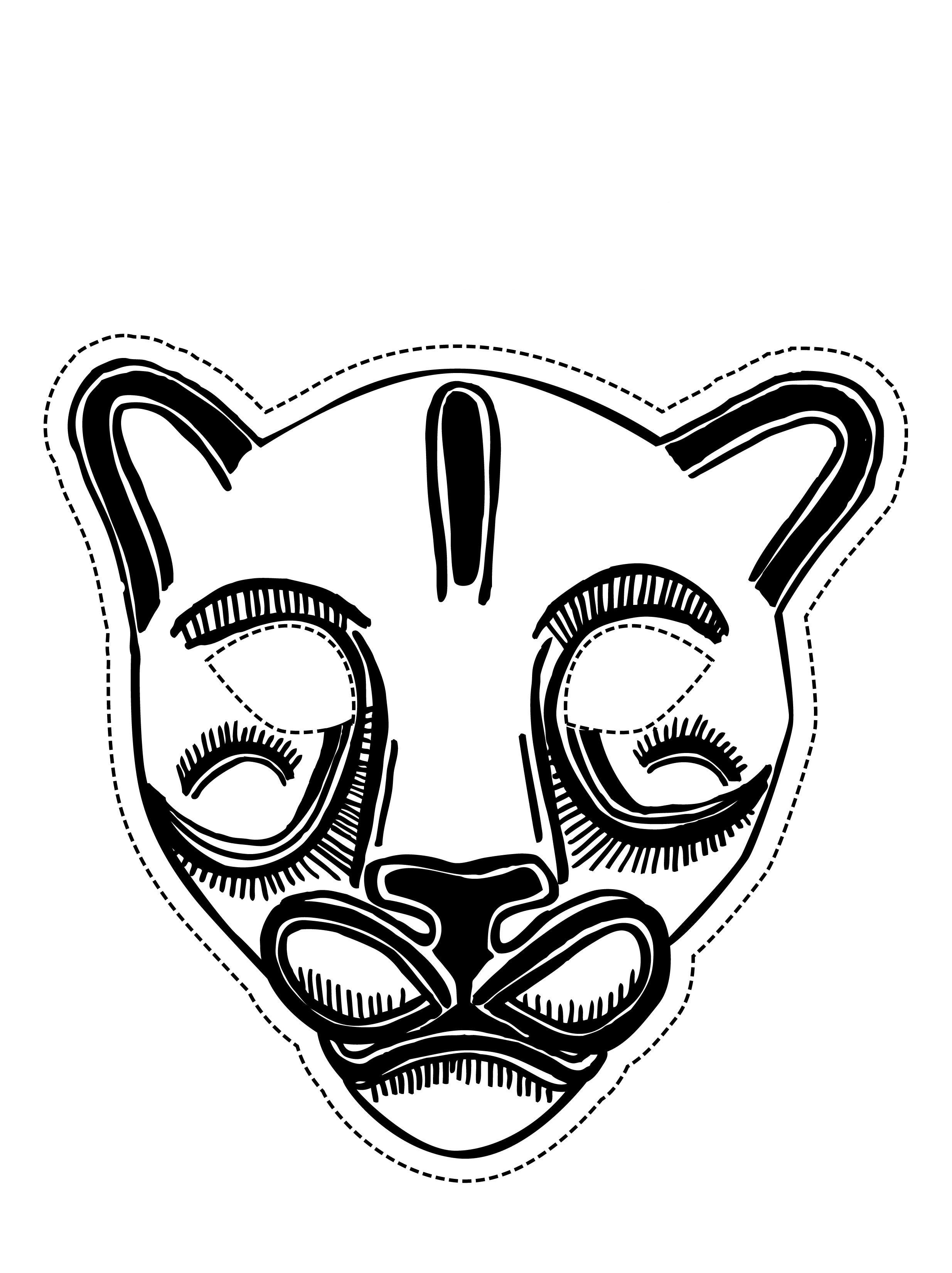 coloring pages of masks - photo#22