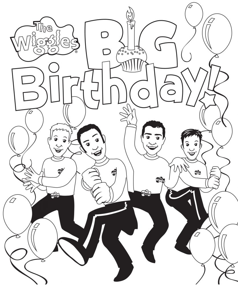 coloring pages of the wiggles - photo#22