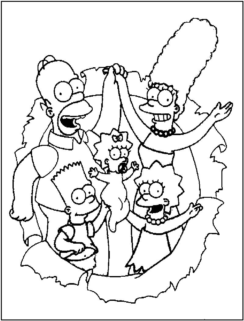 Free Printable Simpsons Coloring