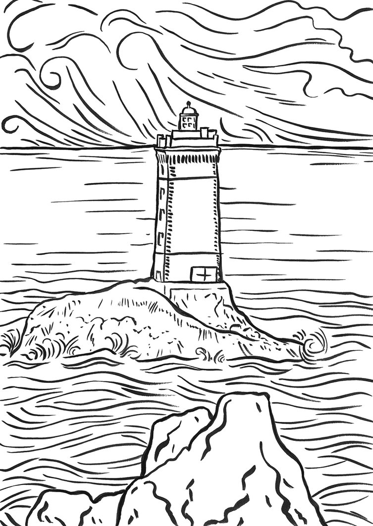 printable coloring pages lighthouses - photo#6