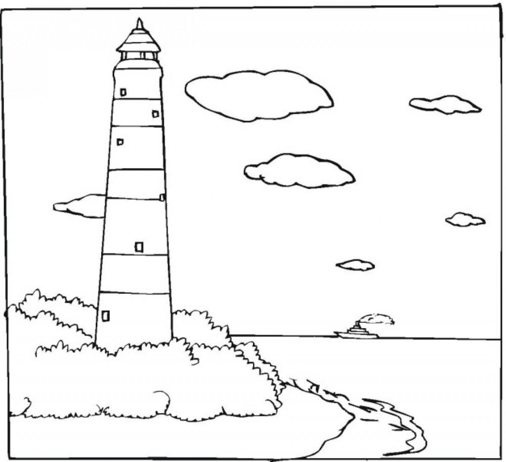 kids free coloring pages lighthouses - photo#9