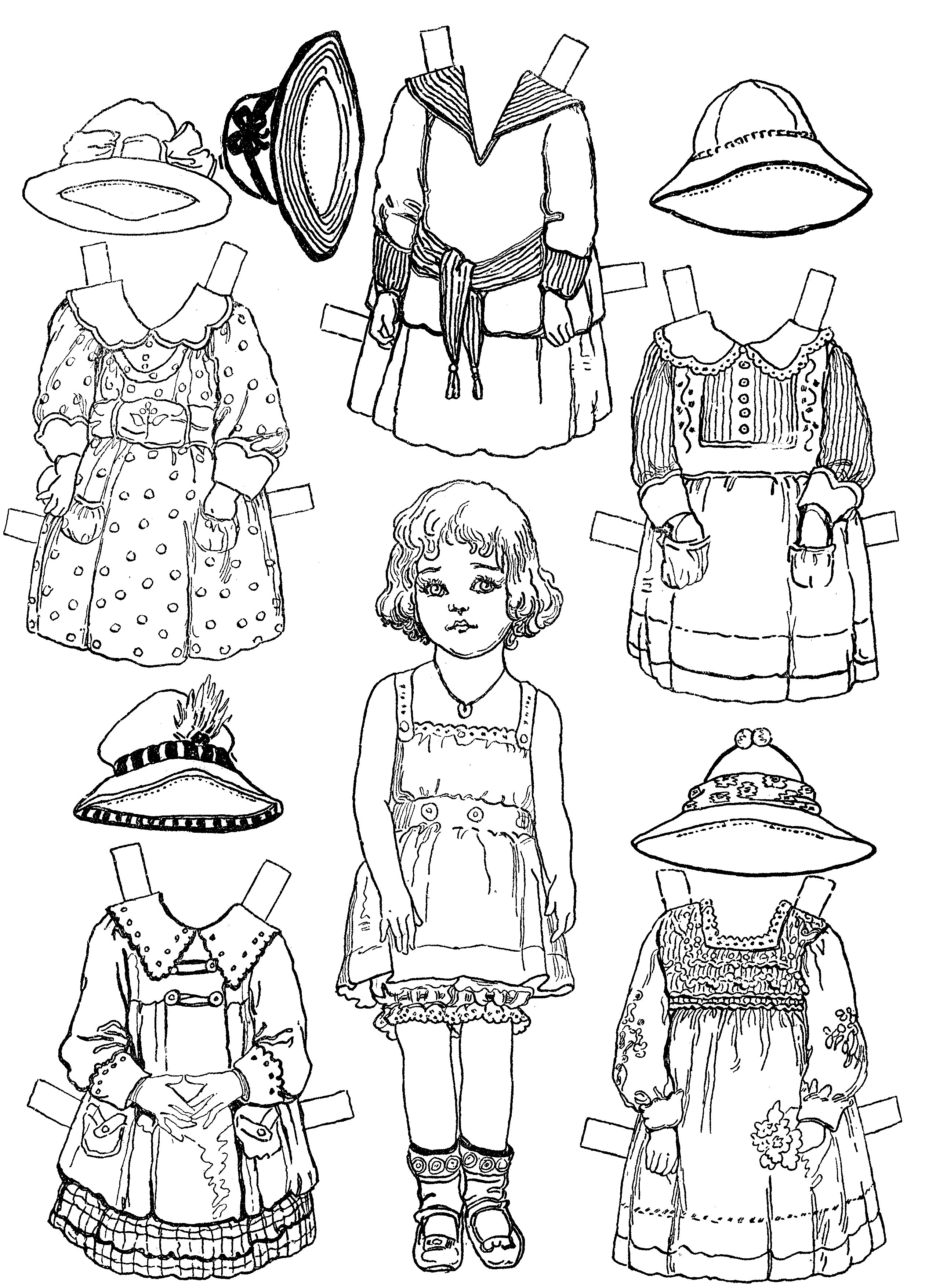 doll coloring pages for free - photo#28