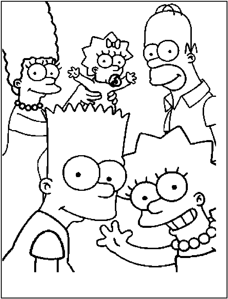 Free printable simpsons coloring pages for kids for Coloring pages family guy