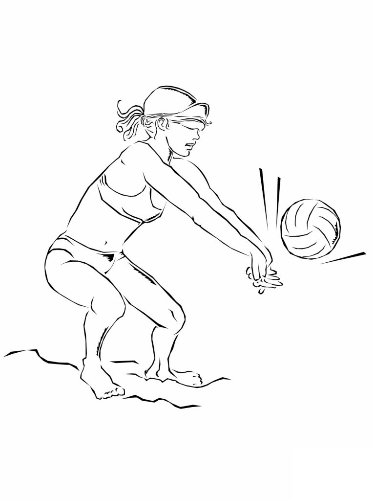 printable volleyball coloring pages - photo#22