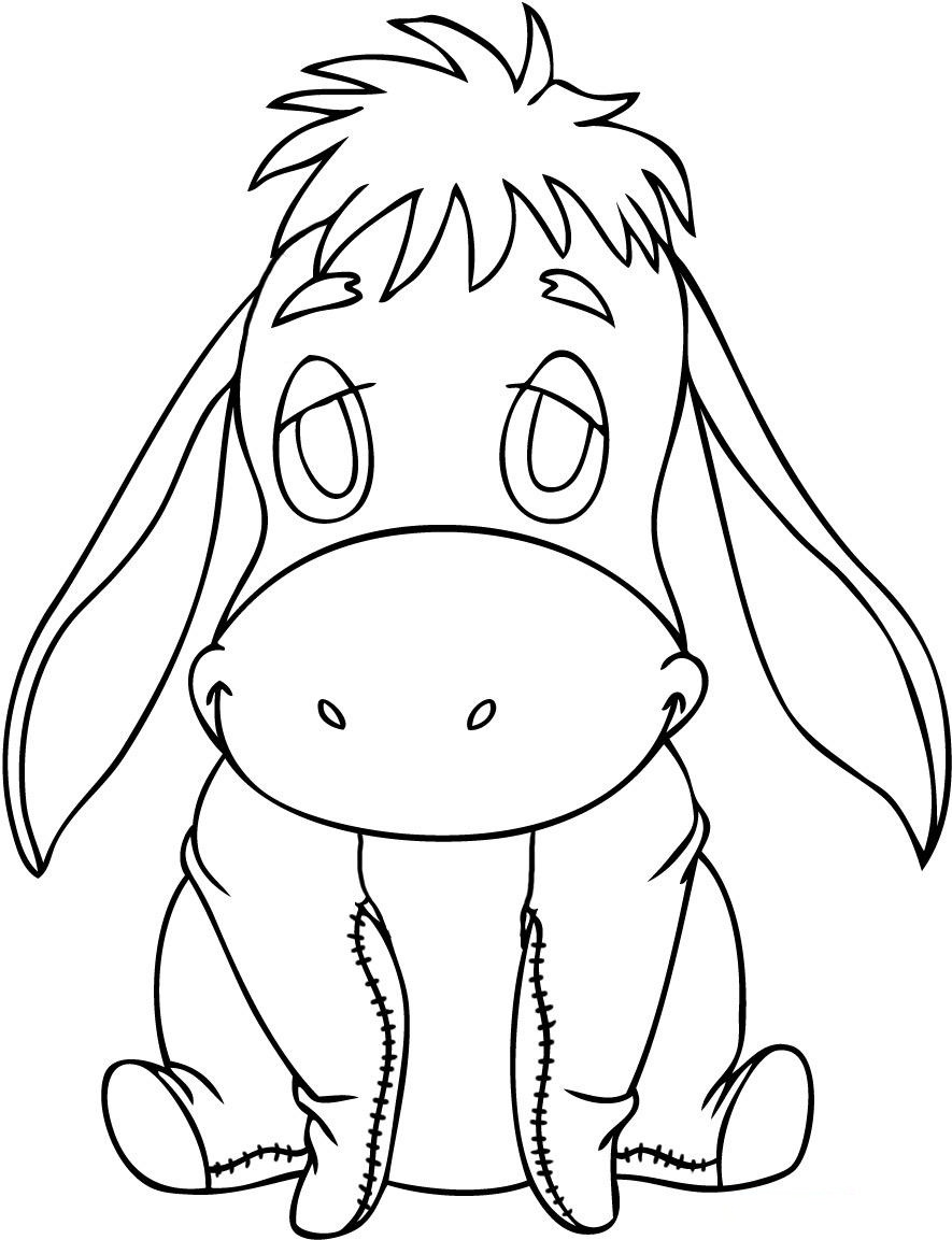 eeyore coloring book pages - photo#45