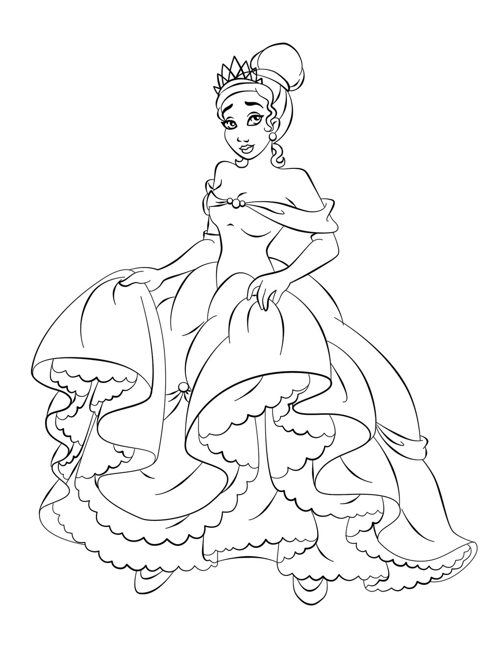 free coloring pages of princes - photo#20