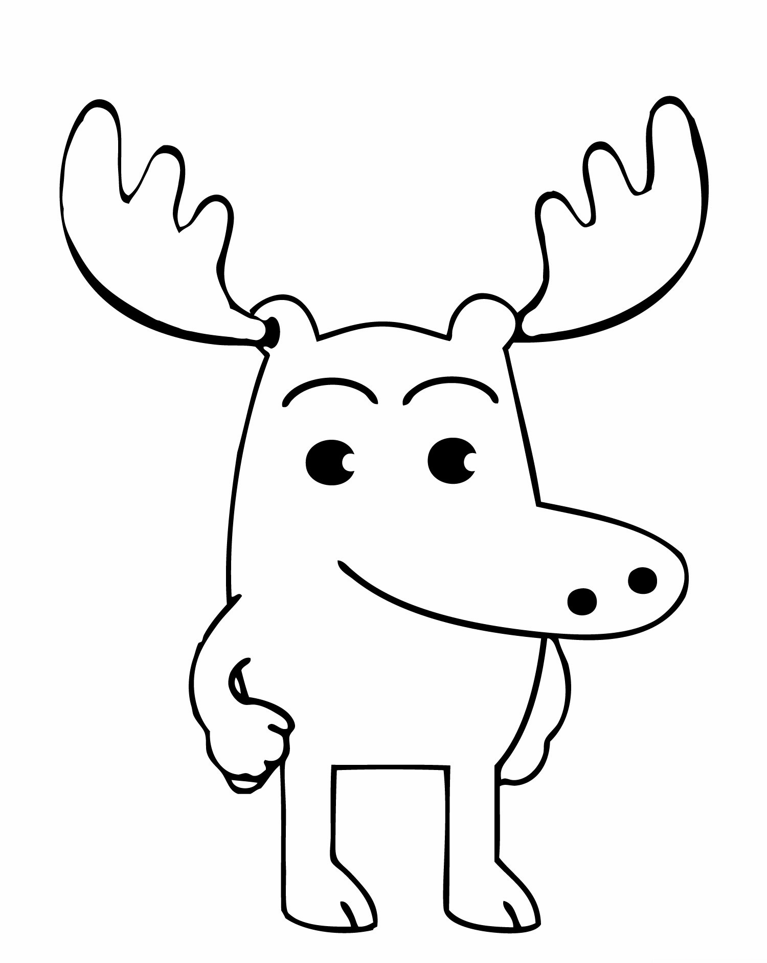 Holiday Coloring Pages Deer Head Free Printable Moose For Kids