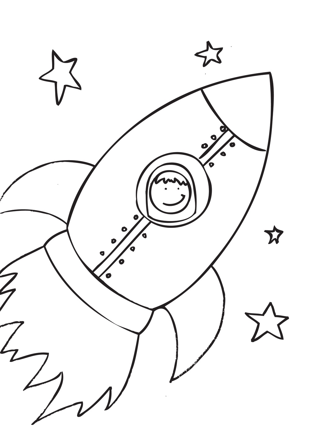 Free Printable Rocket Ship Coloring