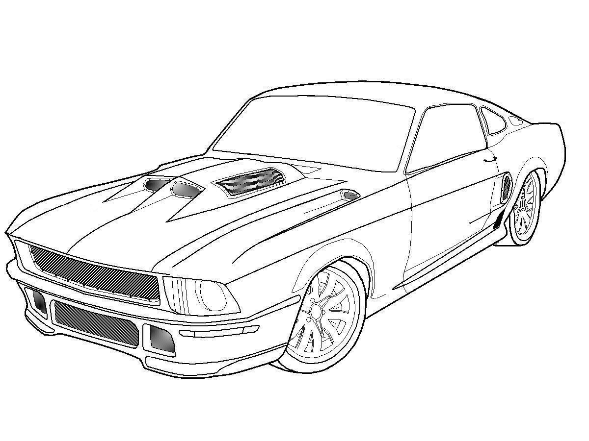 mustang coloring pages to print - photo#2