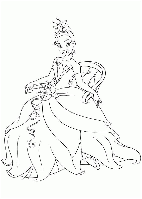 Free Printable Princess Tiana Coloring