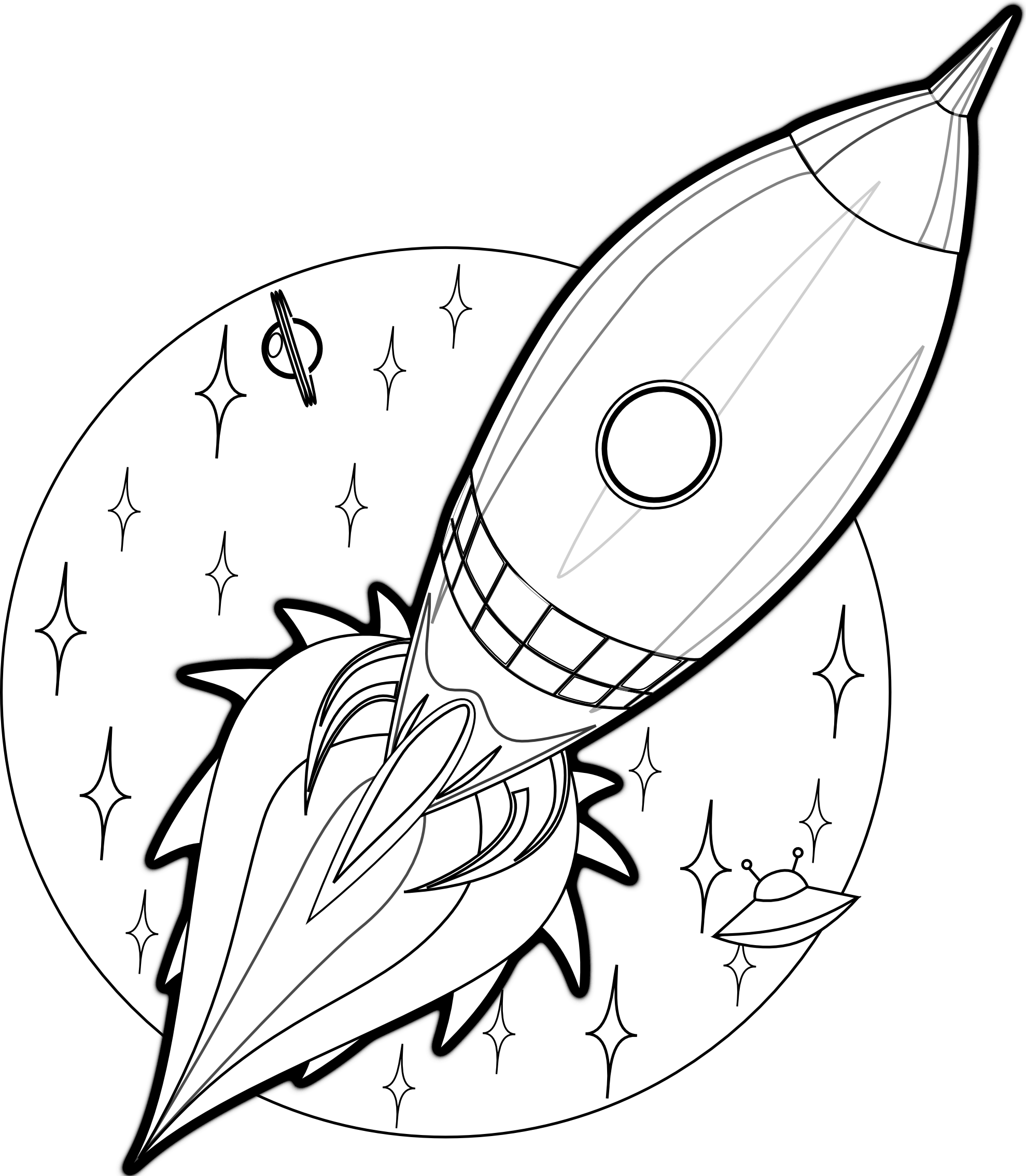 Remarkable image within rocket ship printable
