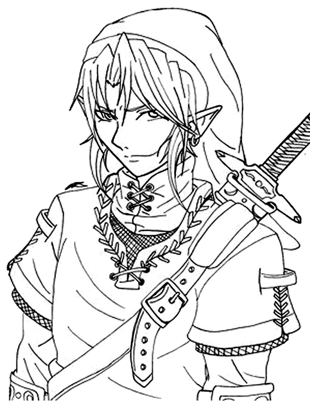 coloring pages zelda - photo#5