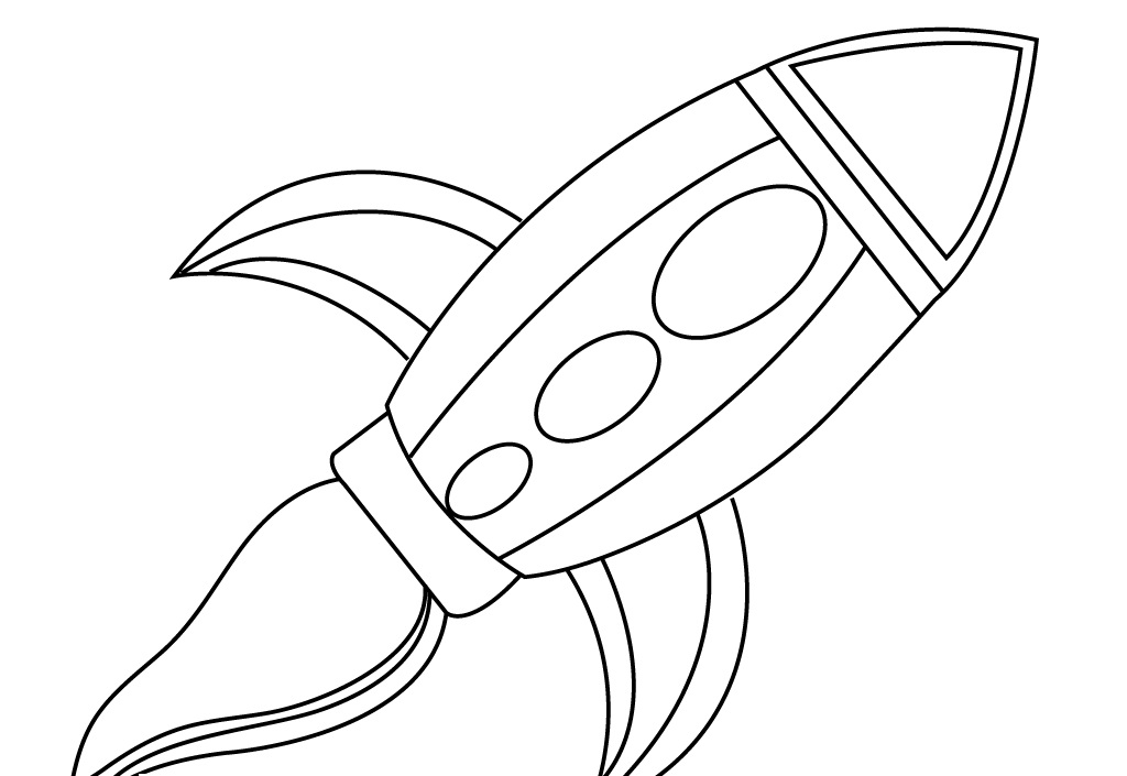 rocketship coloring pages - photo#12