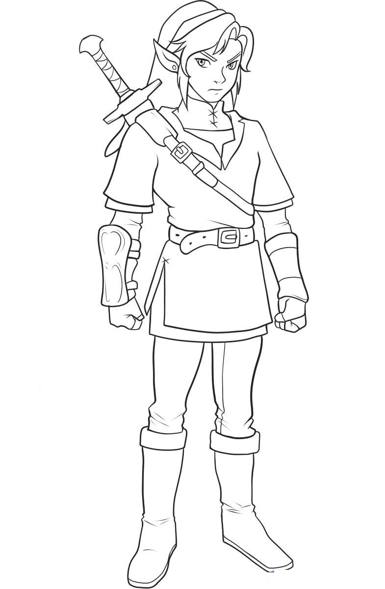 coloring pages zelda - photo#17