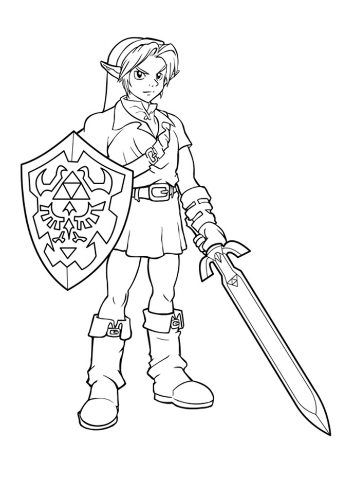 coloring pages zelda - photo#1