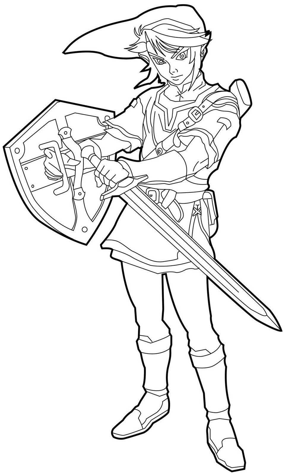 Free Printable Zelda Coloring Pages