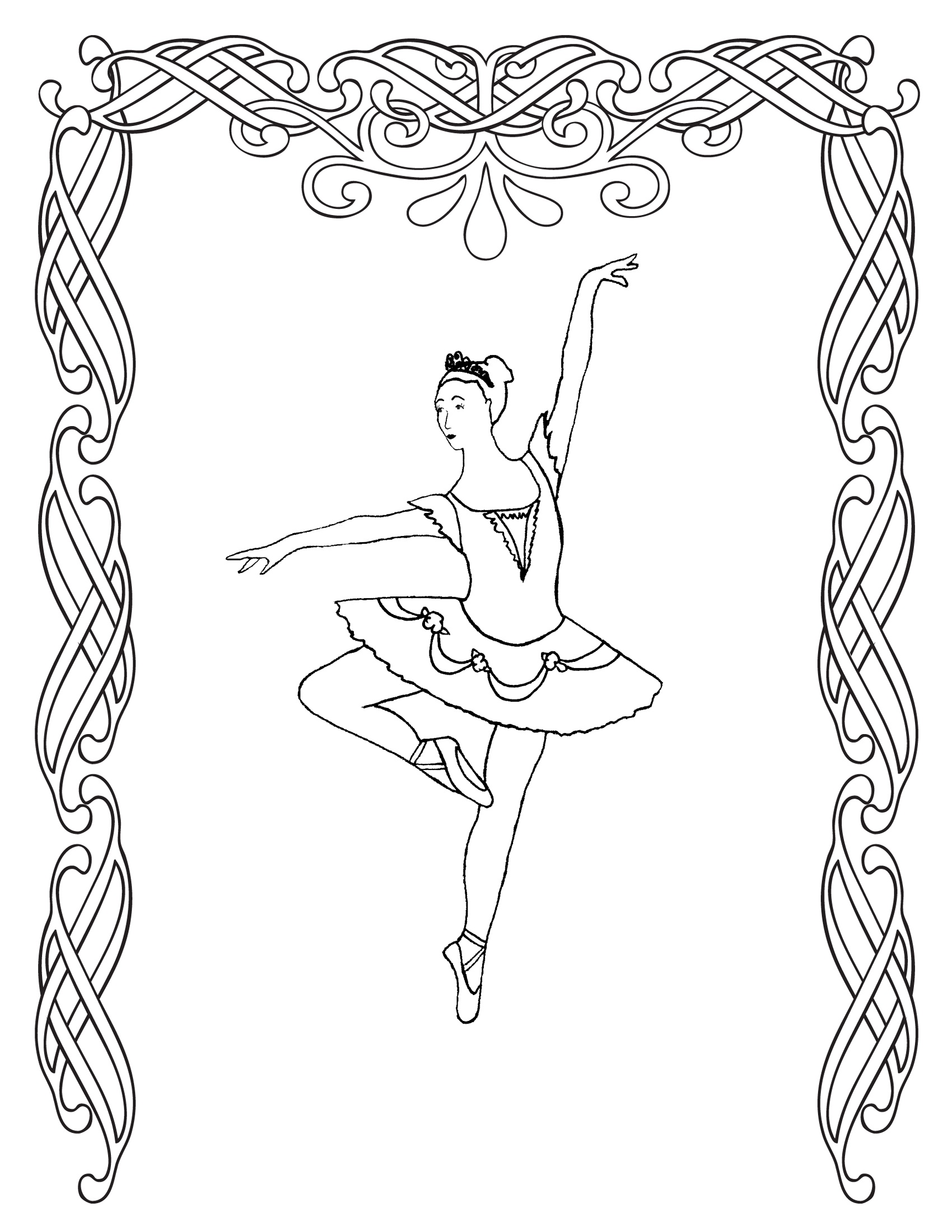 ballerina coloring pages printable free - photo#22