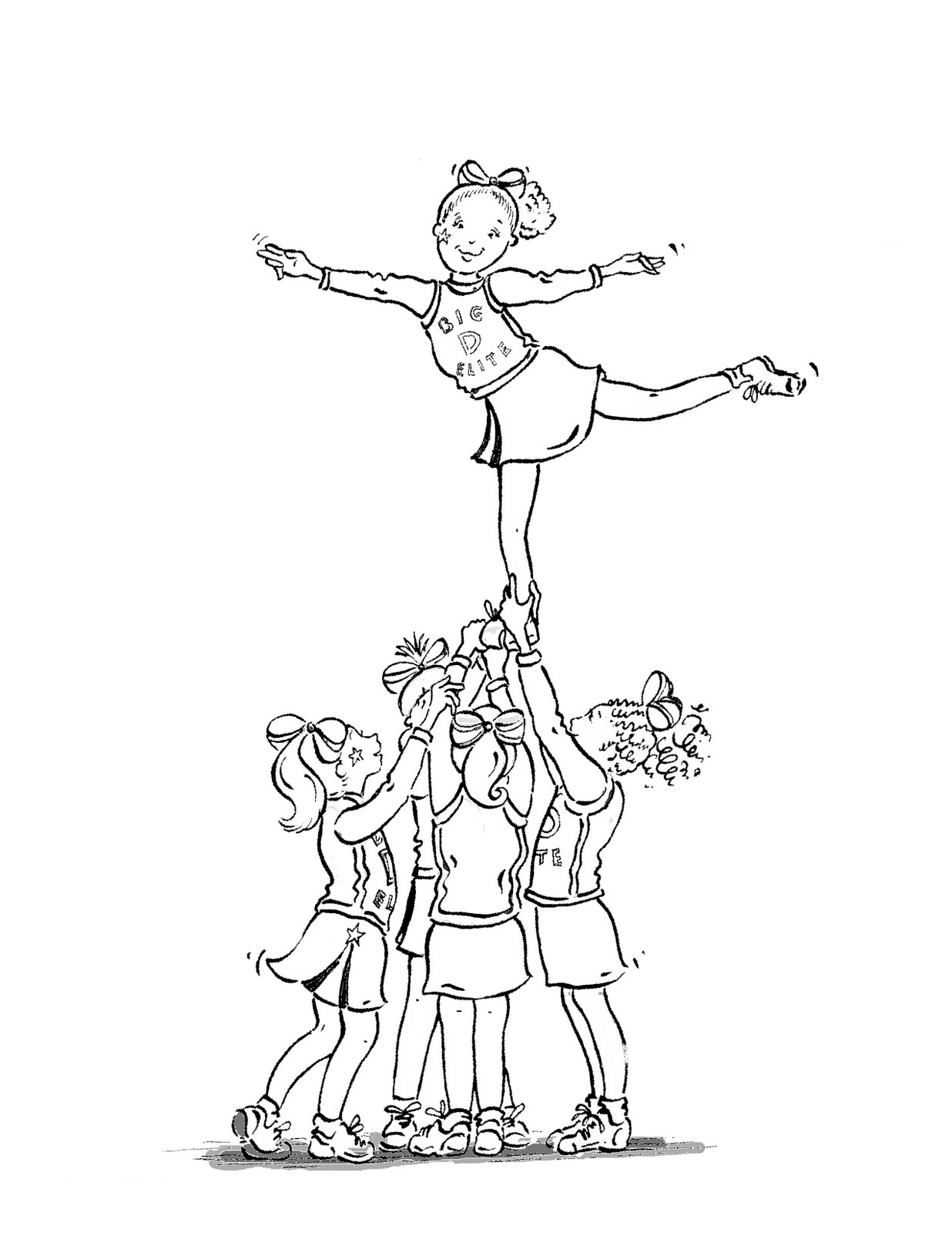 cheerleaded coloring pages | Free Printable Cheerleading Coloring Pages For Kids