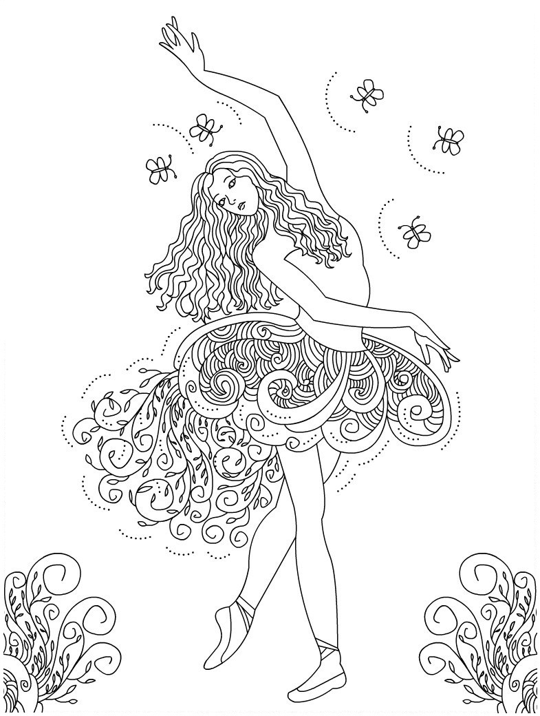 Glitter Barbie Dress Coloring Pages  Barbie Princess Coloring Book  Barbie ballerina coloring