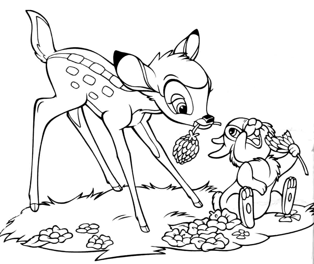 dustin bambi coloring pages - photo#34