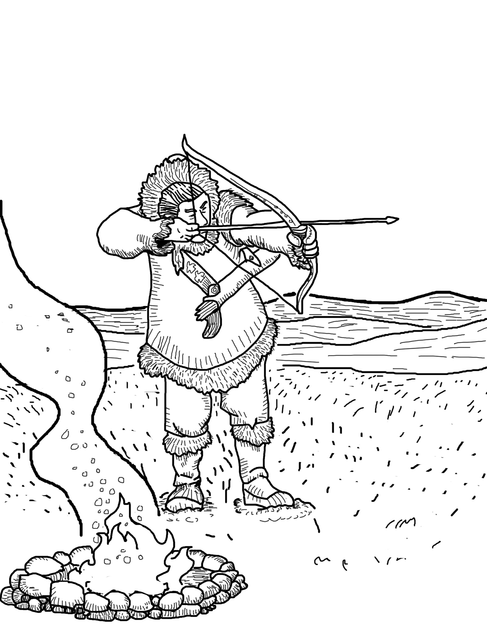 turkey hunting coloring pages