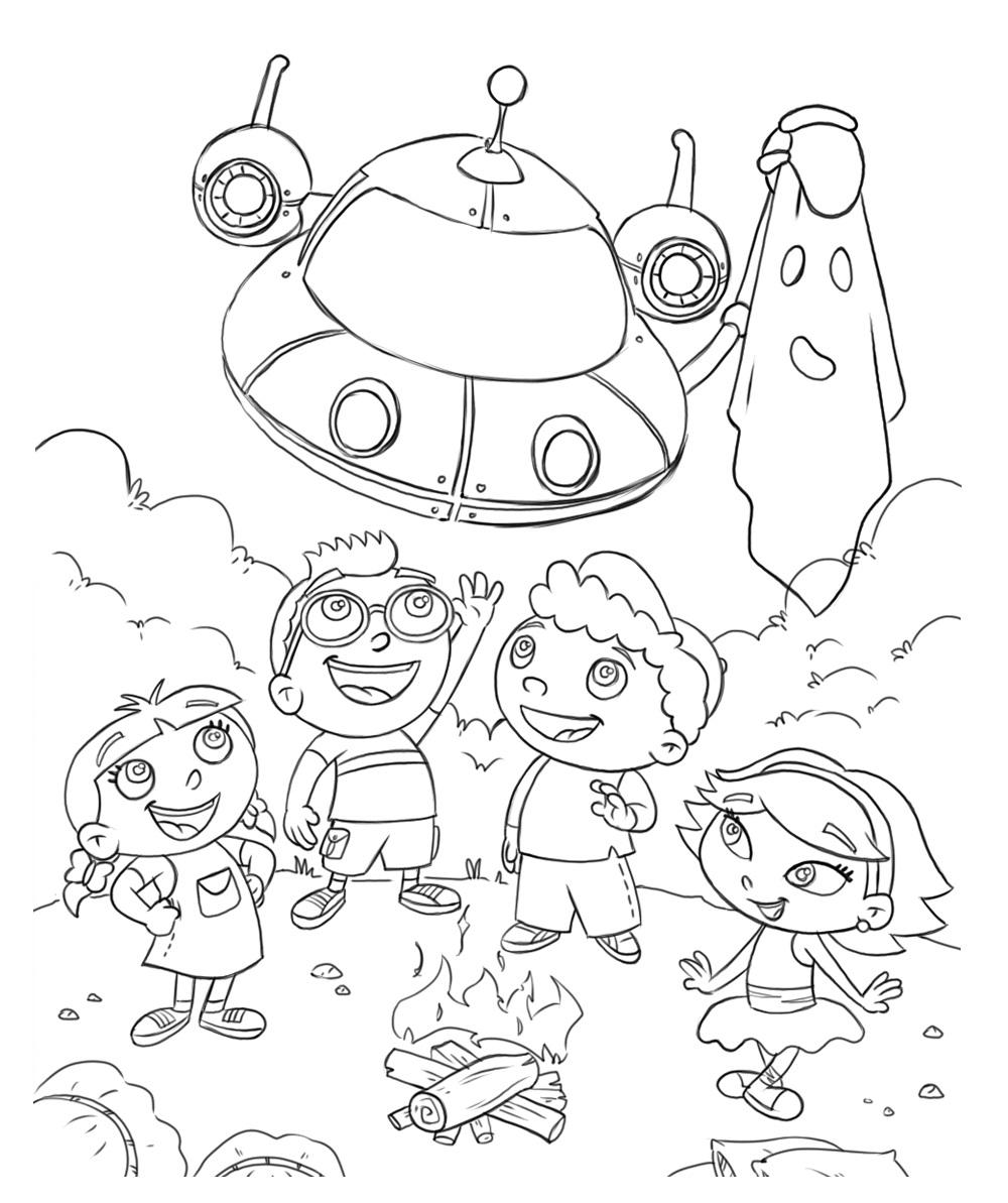 little einstien coloring pages - photo#2