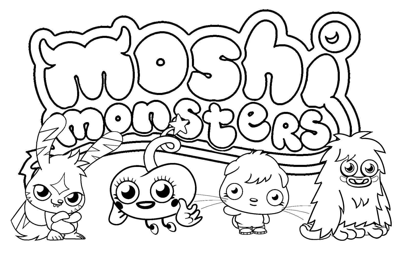 Free Printable Moshi Monster Coloring