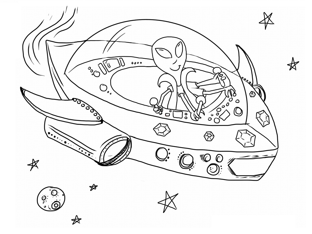 coloring pages alien - photo#18