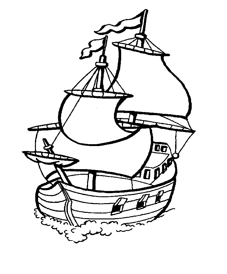 coloring pages boating - photo#17