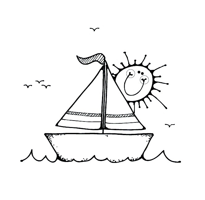 coloring pages boating - photo#21