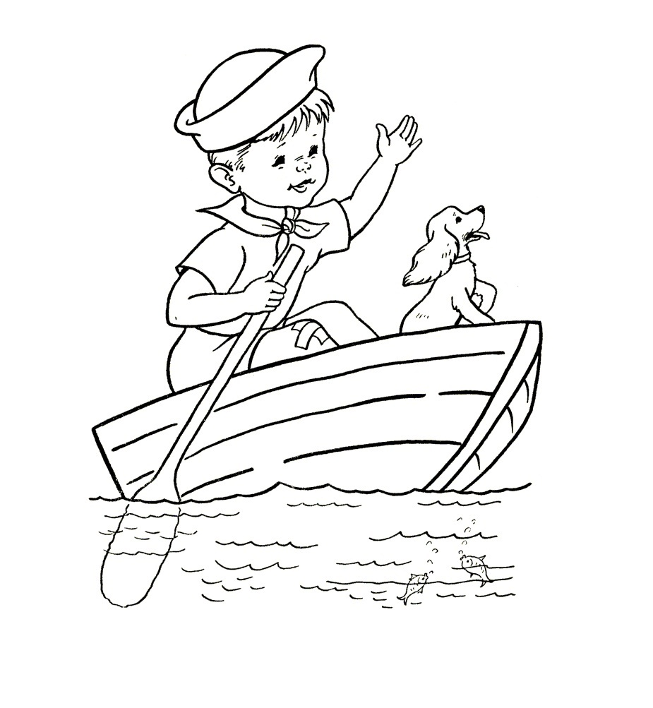 coloring pages boating - photo#25
