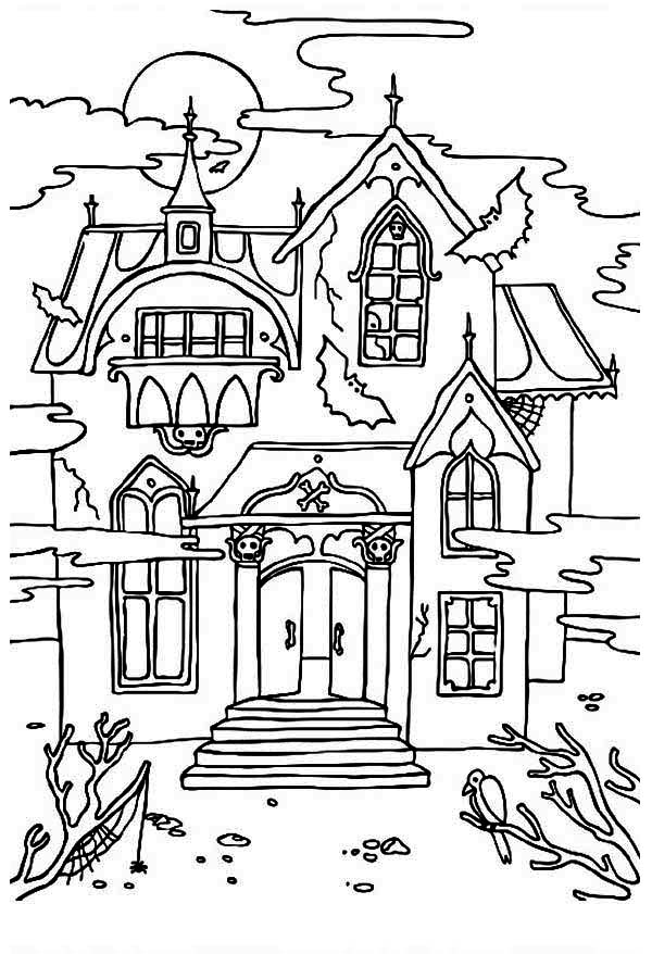 It is a graphic of Impeccable Haunted House Printable