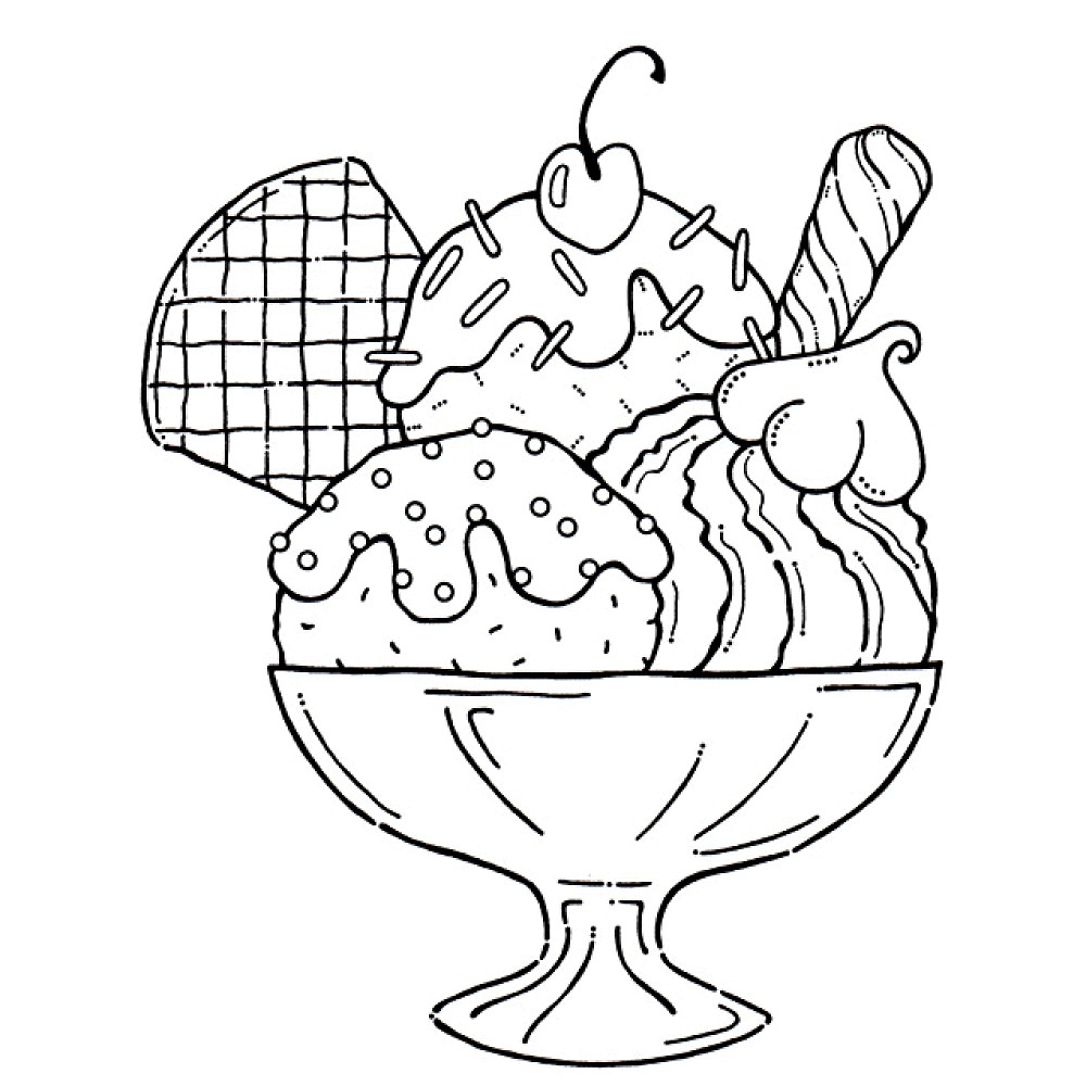 free ice cream coloring pages - photo#1