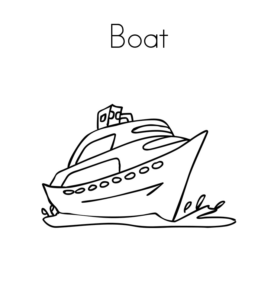Free Printable Boat Coloring Pages